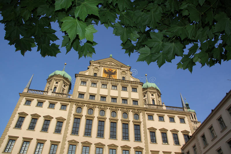 Town hall Augsburg. Town hall of Augsburg from the back (Elias Holl Platz stock images