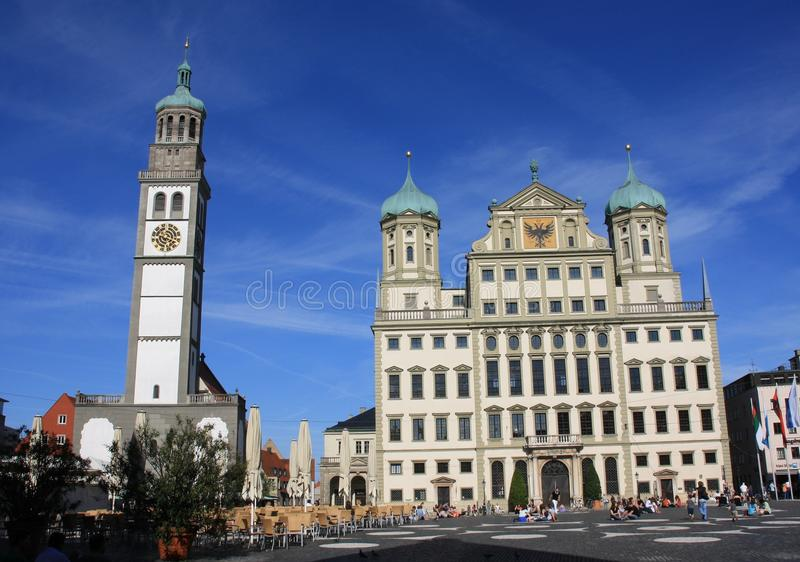 Town Hall of Augsburg. This Tower is placed near the Town Hall of Augsburg (German: Augsburger Rathaus) The administrative centre of Augsburg, Bavaria, Germany stock photography