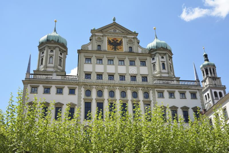 Town Hall of Augsburg. Historic renaissance facade of the town hall of Augsburg royalty free stock photo