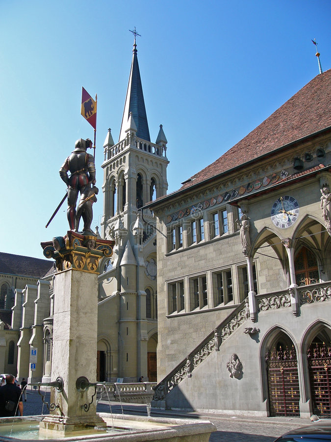 Town hall, Berne, Switzerland stock images
