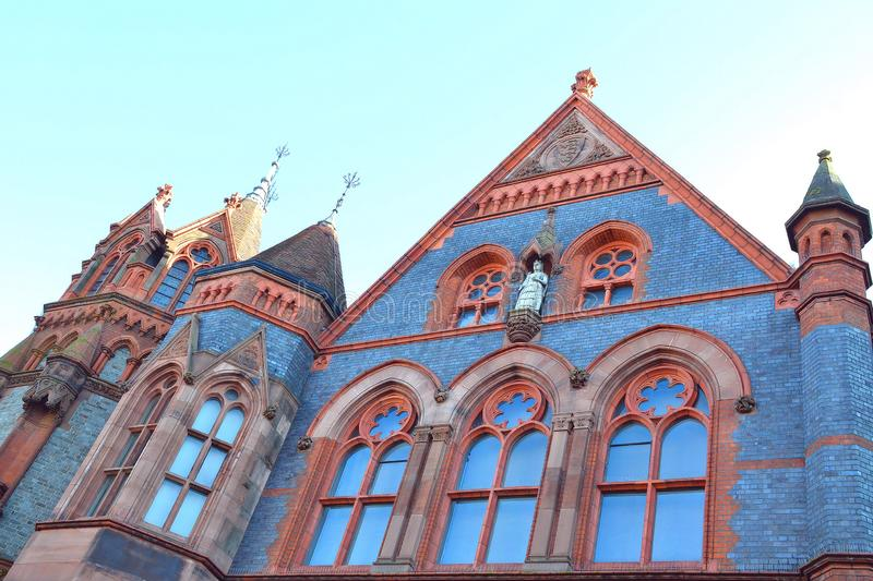 Town hall building of Reading in England, Berkshire UK royalty free stock photos