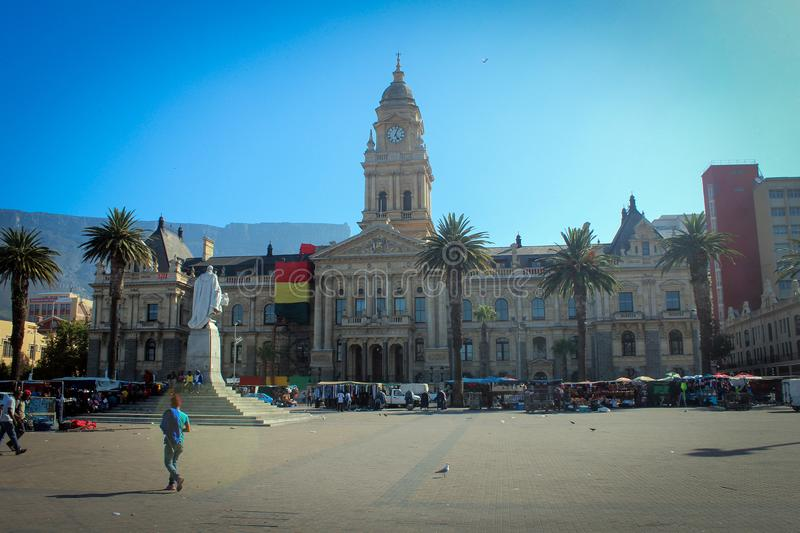 Town Hall view, Cape Town stock images