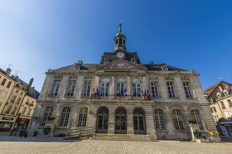 Town hall of Chaumont, Haute-Marne, France. Chaumont is a commune of France, and the capital (or préfecture) of the Haute-Marne department. As of 2013, it has stock photo