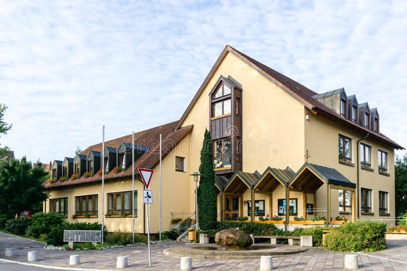 Town Hall in city burgthann bavaria germany royalty free stock image