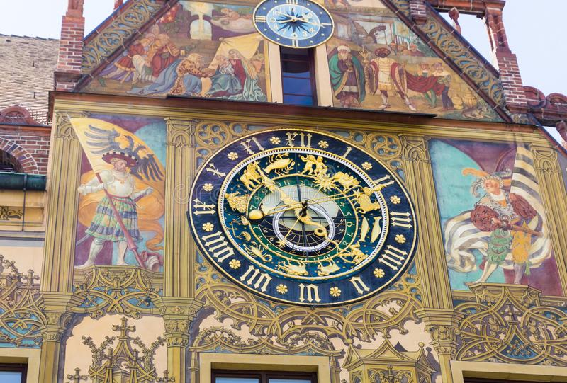 Town Hall clock in Ulm Baden-Wurttemberg Germany royalty free stock photography