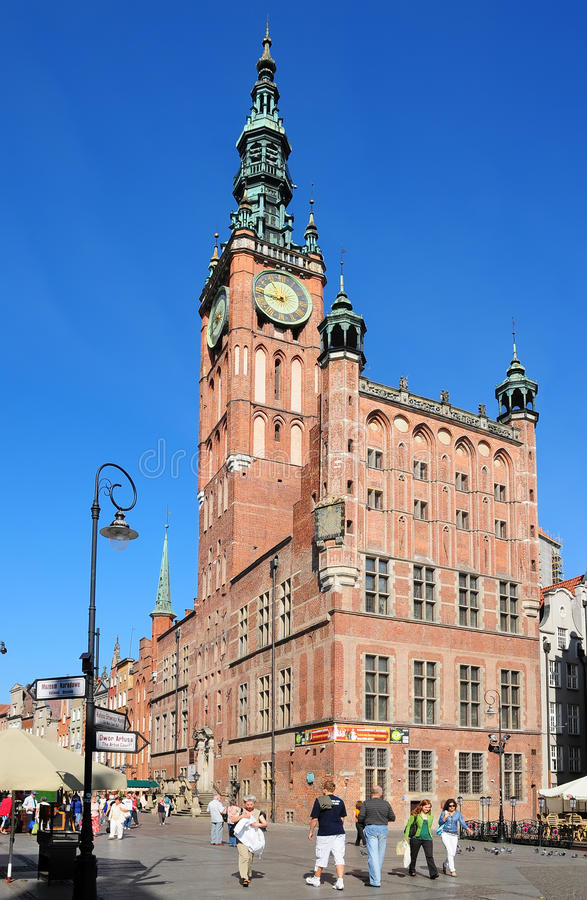 Town Hall in Danzig (Gdansk) stock images