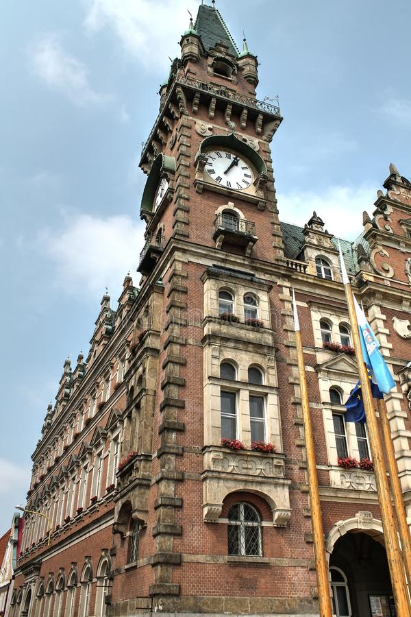 Town Hall of Frydlant. Czech Republic stock image
