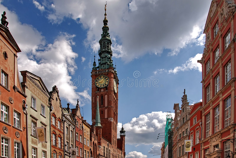Download Town hall in Gdansk stock image. Image of attraction, church - 3016037