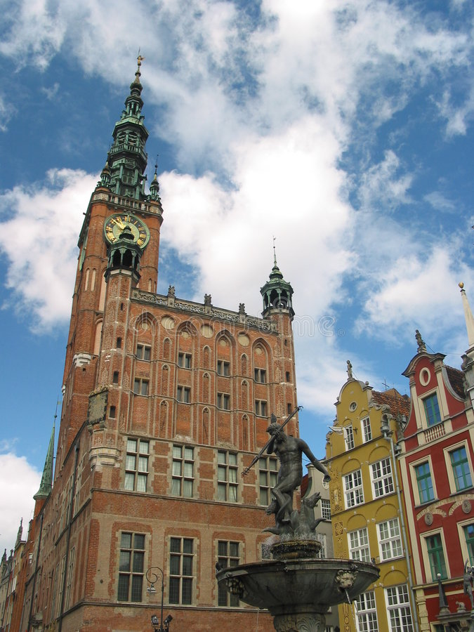 Download Town hall, Gdansk, Poland stock photo. Image of buildings - 125764