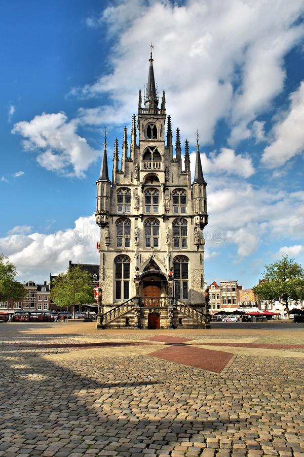 Town Hall in Gouda royalty free stock image