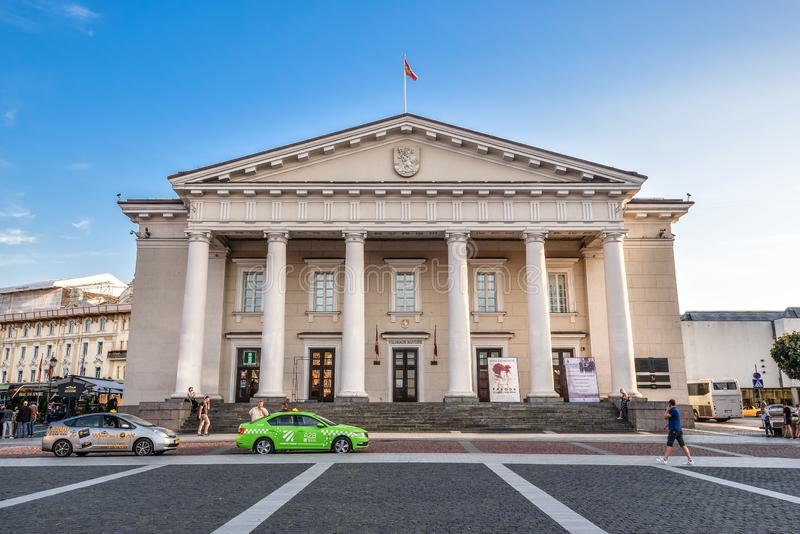 Town Hall in the historic part of the old city of Vilnus. Lithuania. royalty free stock photography