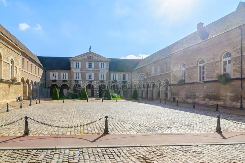 The town hall hotel de ville, in Beaune. Burgundy, France royalty free stock photography