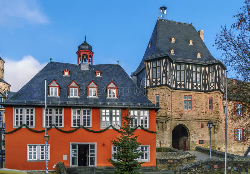 Town hall in Idstein, Germany. Town Hall (Rathaus) from 1698 in Idstein, Germany stock photo