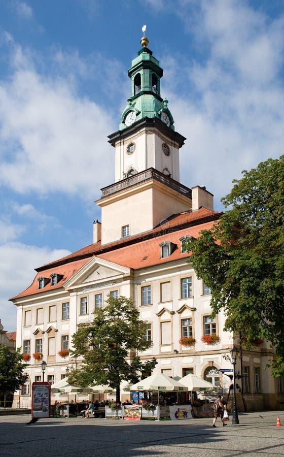Town hall in the Jelenia Gora, Poland stock photography