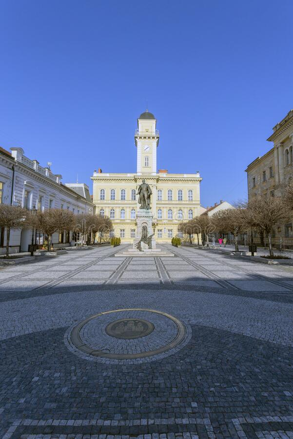 Town hall of Komarno in Slovakia.  stock image