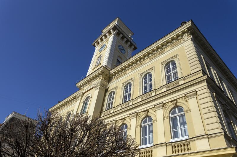 Town hall of Komarno in Slovakia.  royalty free stock photography