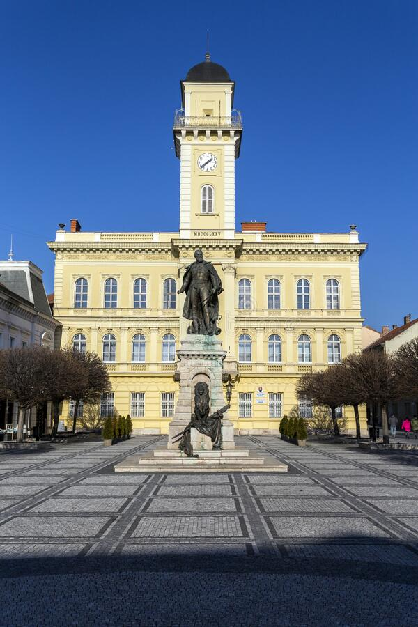 Town hall of Komarno in Slovakia.  stock photo