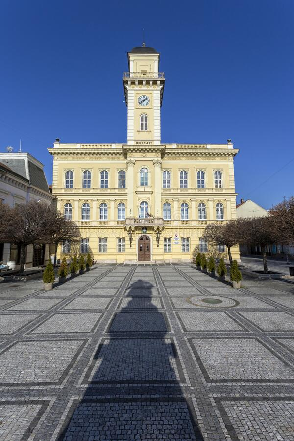 Town hall of Komarno in Slovakia.  royalty free stock photo