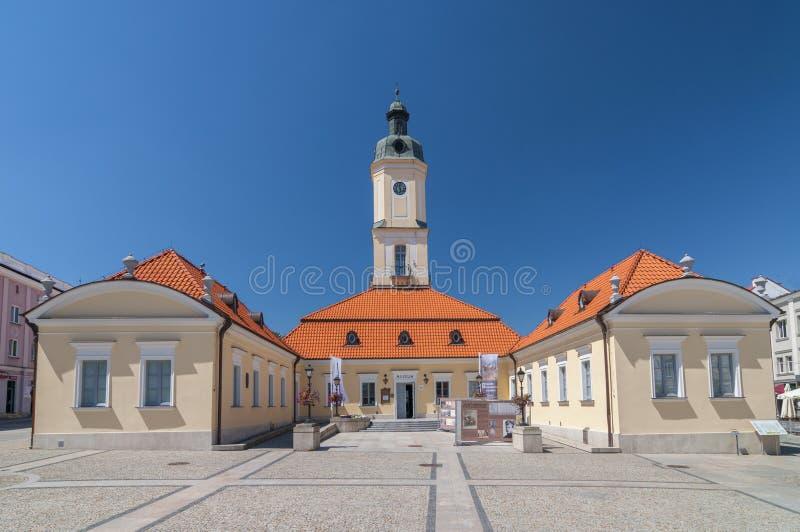 Town Hall at the Kosciuszko Square in Bialystok, Poland.  stock image