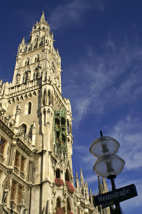 Town Hall At The Marienplatz In Munich Royalty Free Stock Photo