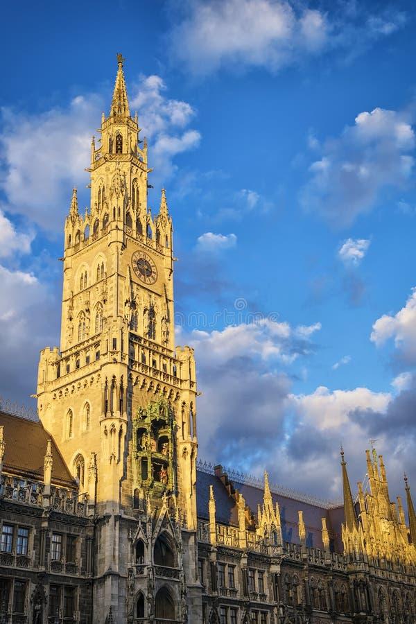 Town hall Munich stock photos