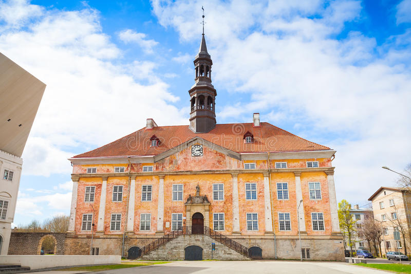 Town Hall in Narva town, Estonia. Old Town Hall in Narva town, Estonia stock photography
