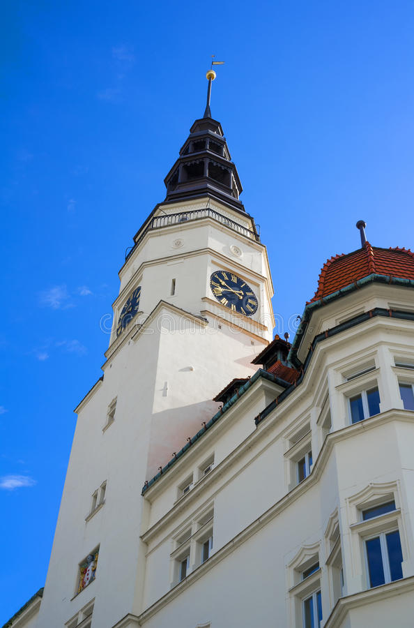 Town hall, Opava, Czech Republic / Czechia. Town hall / City hall, Opava, Silesia, Czech Republic / Czechia - main landmark and tourstic destination of the town royalty free stock photos