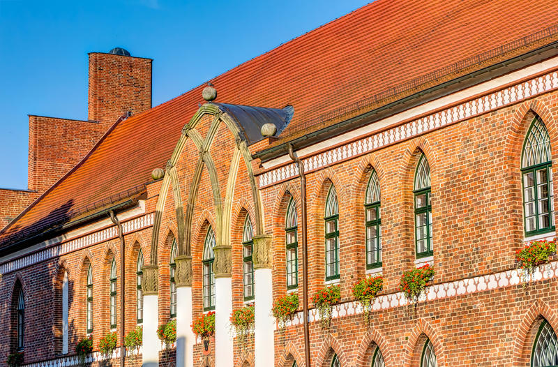 Town hall of Parchim. In Mecklenburg-Vorpommern in Germany stock photo