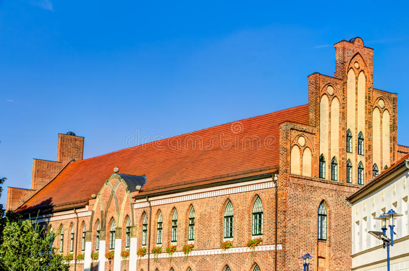 Town hall of Parchim. In Mecklenburg-Vorpommern in Germany royalty free stock photos