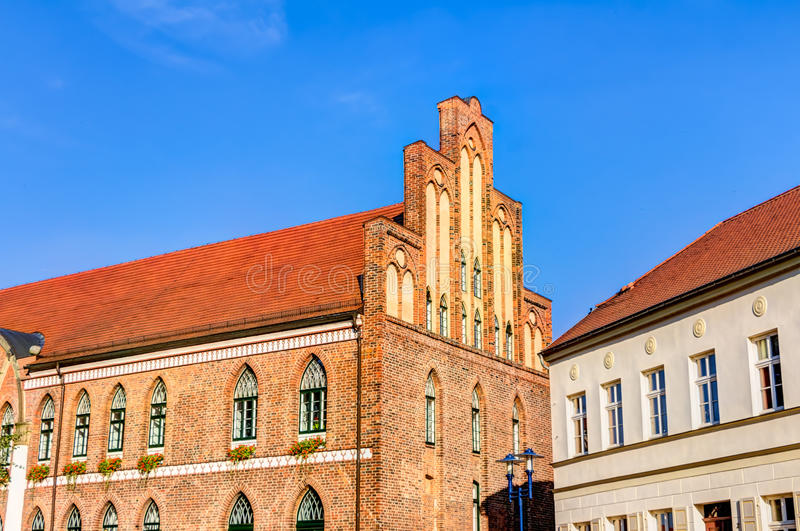 Town hall of Parchim. In Mecklenburg-Vorpommern in Germany stock photography