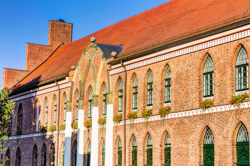 Town hall of Parchim. In Mecklenburg-Vorpommern in Germany royalty free stock images