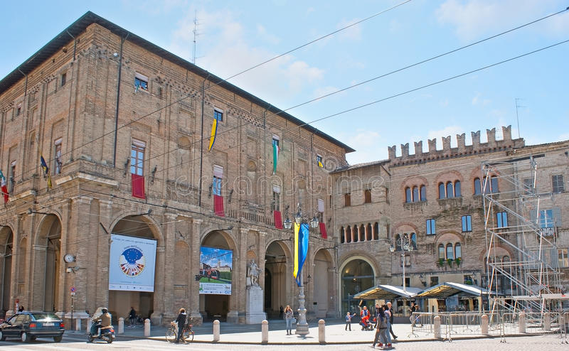 The Town Hall of Parma royalty free stock images