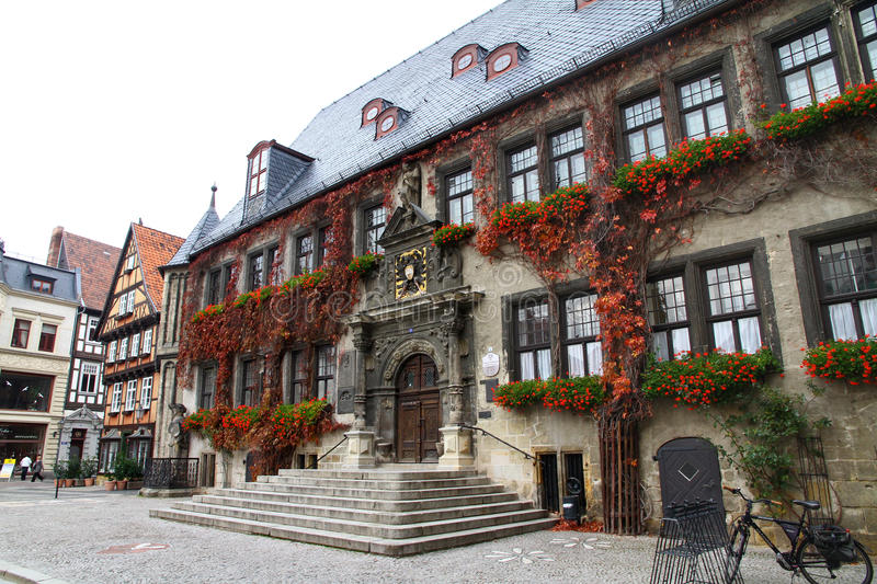Town hall of Quedlinburg. (Harz) Germany royalty free stock photography