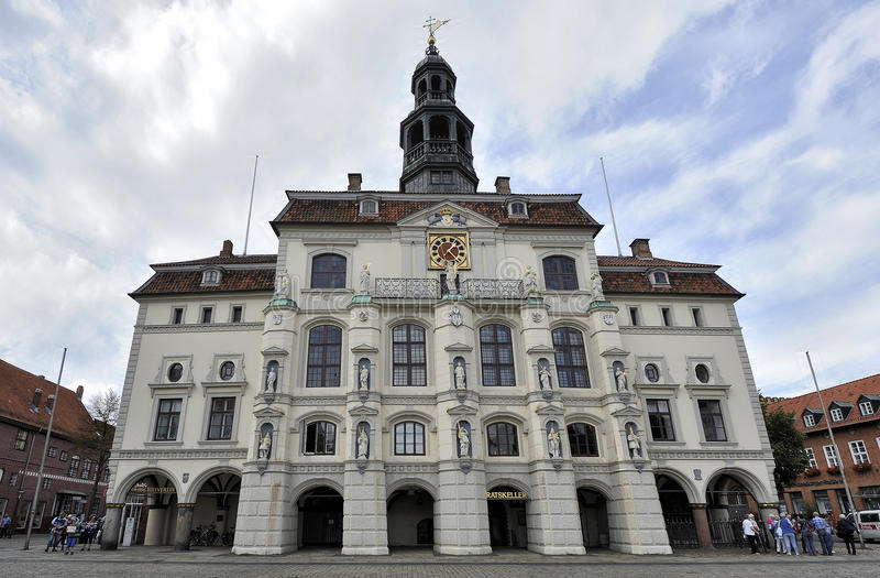 Town Hall (Rathaus), Luneburg, Germany stock photography