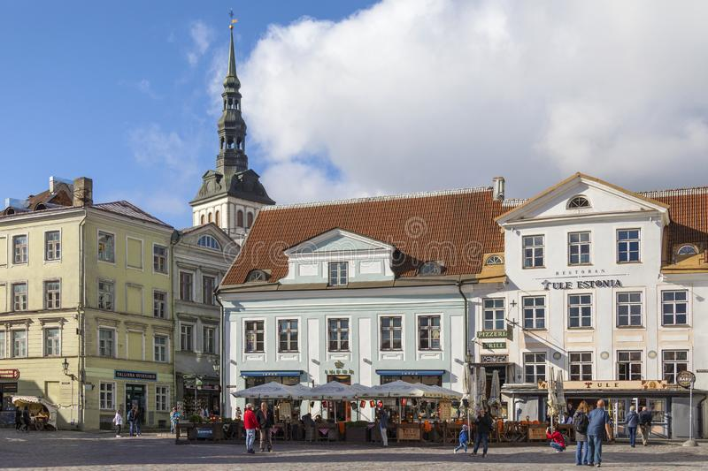 Town Hall Square - Tallinn - Estonia stock photo