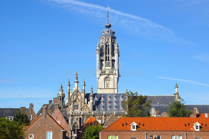 Download Town Hall Stadhuis, Middelburg Stock Image - Image: 26459223