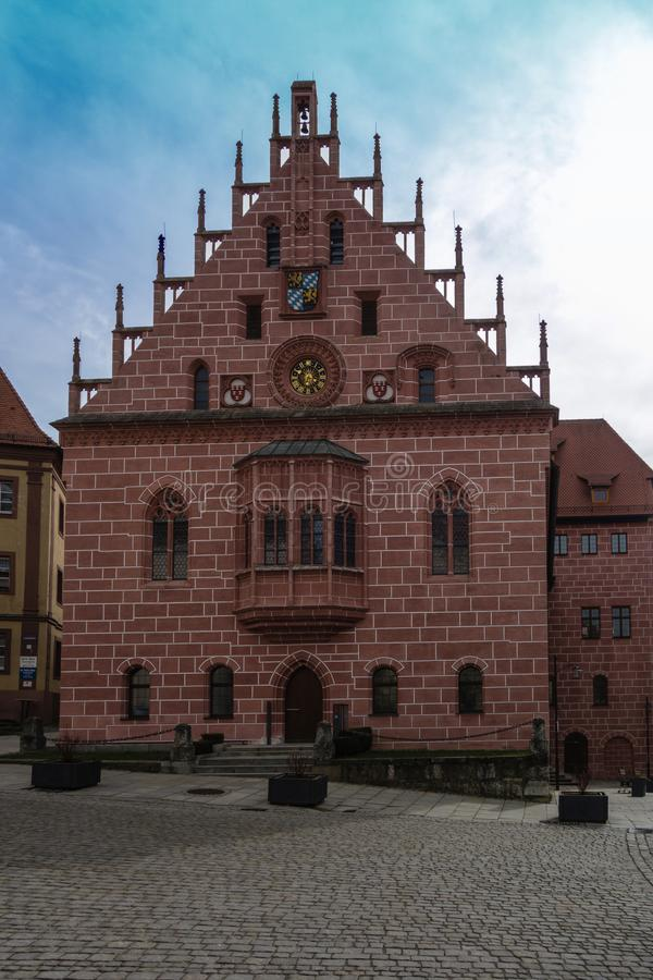 Town hall in sulzbach-rosenberg bavaria germany stock photography