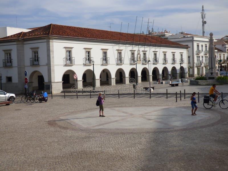 Town hall Tavira stock photos