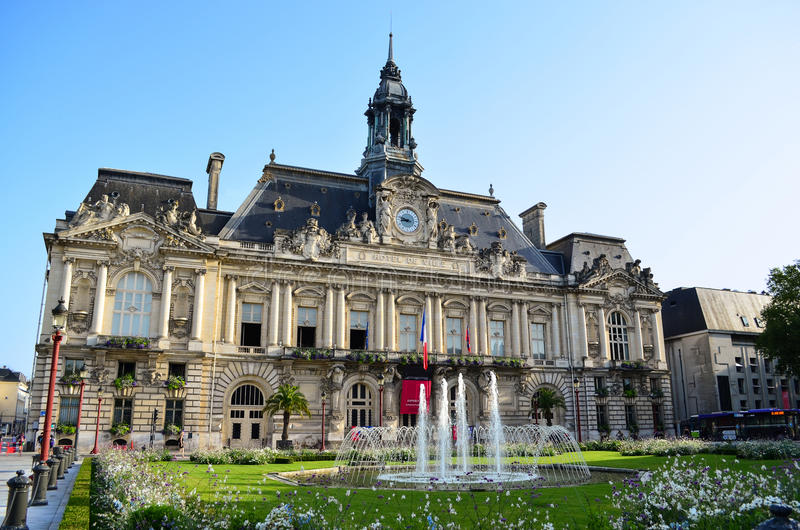 Town Hall In Tours France Stock Photo Image - Tours france