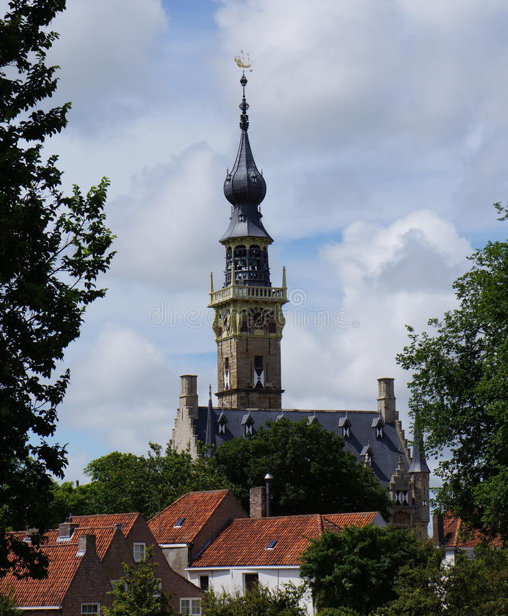 Town hall Veere, Netherlands stock image