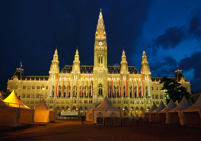 Download Town hall in Vienna stock photo. Image of architecture - 11409718