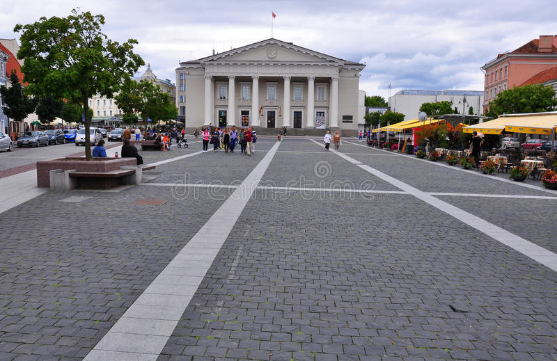 Download Town Hall of Vilnius editorial stock image. Image of cityscape - 31535599