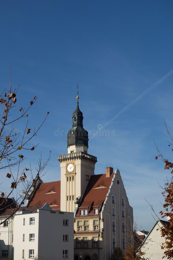 Town Hall in Werdau Saxony Germany royaltyfri fotografi