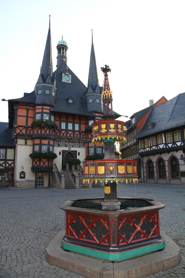 Town hall of Wernigerode. (Harz) Germany royalty free stock photos