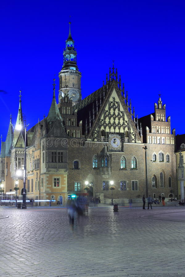 Town hall in Wroclaw stock photo