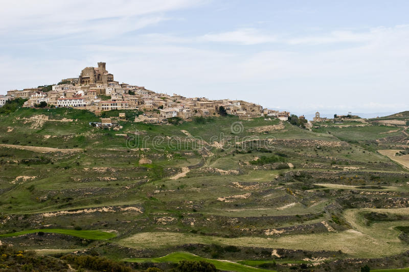 Download Town on a hill stock photo. Image of ujue, town, travel - 14297384