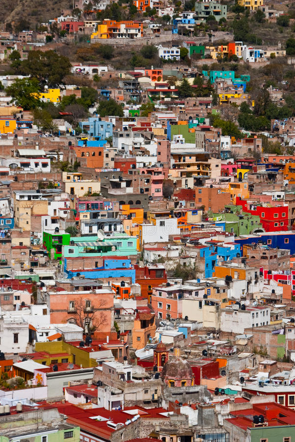 Town on the hill stock image