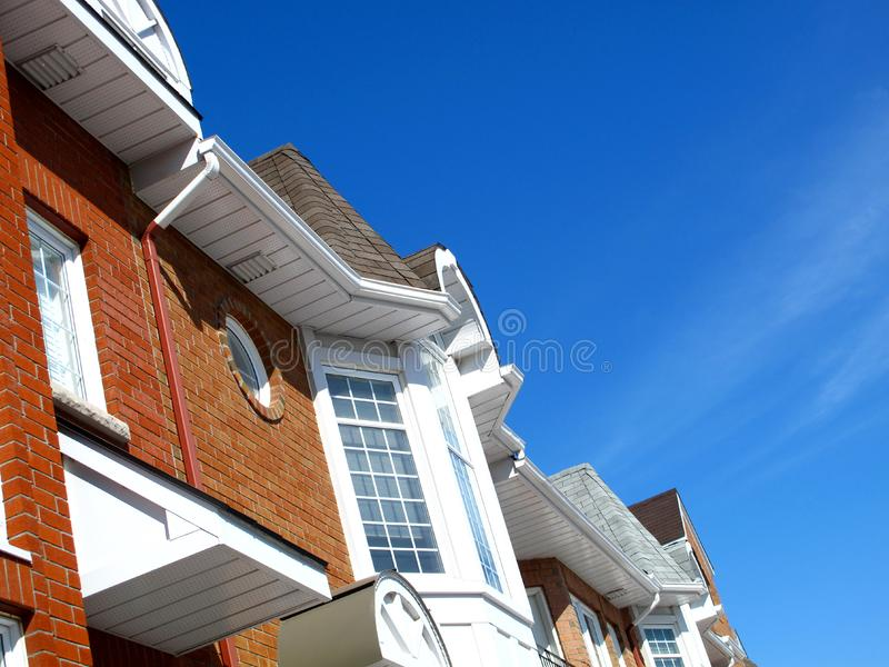 Town homes stock images