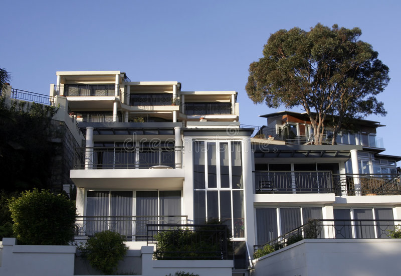 Town House. Tree On Hill, Sydney, Australia royalty free stock images