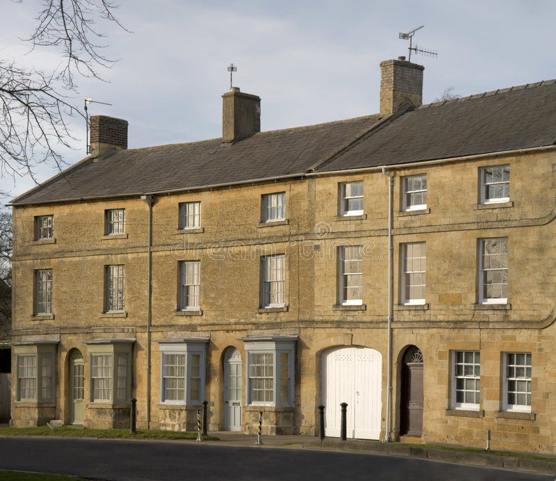 Town house. A town house high street moreton in the marsh cotswolds gloucestershire uk stock photos